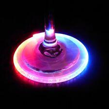 More details for led colour changing light up coasters drinks mats base beer bottle vase party