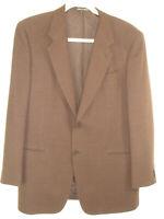 GIORGIO ARMANI Italy Mens Blazer Jacket Size 44L Brown Tweed Wool Le Collezioni