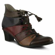 Spring Step Women's Estrela Lace-Up Shoe Brown Multi