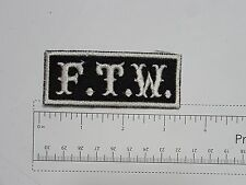 FTW - Club Harley Biker Funny Motorcycle Iron On Small Patch