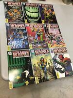 Necropolis Judge Dredd & Buried 1-9 Complete Set Fleetway Quality Comics 1992