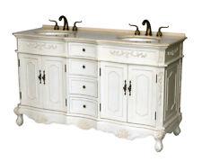 60-Inch Antique Style Double Sink Bathroom Vanity Model 1905-60 261Be