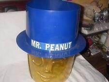 VINTAGE RARE MR PEANUT PLANTERS STORE COUNTER RETAILER PLASTIC TUB AND HAT