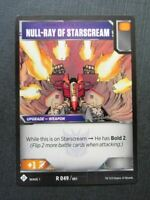 Null-Ray of Starscream R 049/081 - Transformers Cards # 7B91
