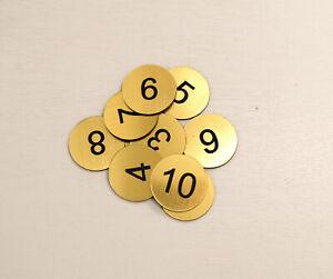 30 x 3cm  (1-30), No holes  Engraved Number Discs, Table, Tags, Locker, Pub