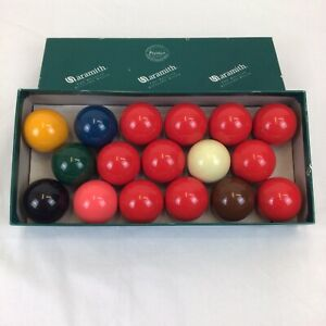 Aramith 17 Snooker Balls Set 10 Red 6 Coloured 1 White 1.75 Inch Balls Sport