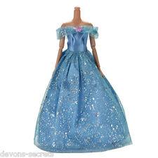girls toy doll BARBIE blue FROZEN style dress princess set outfit dresses BC68