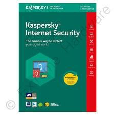 Kaspersky Internet Security 2018 Multi-dispositivo 10 utente 1 anno Licenza