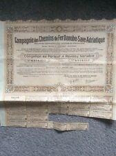 Companie Des Chemistry De Fer Danube Save Adriatique Invalid Share Certificates