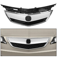 FOR NEW ACURA TL 12 13 14 Front Upper Grill Grille 2012 2013 2014 Chrome+Painted