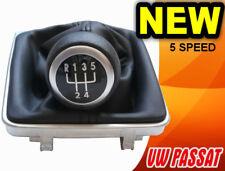 GEAR STICK SHIFT KNOB + GAITER + FRAME VW PASSAT B6 B7 CC (05-13) 5 SPEED - NEW