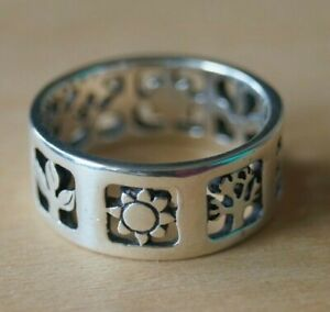 *Retired* James Avery FOUR SEASONS Band Ring Sterling Silver Size 7.75