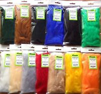 FURABOU 4Trouts Medium Long Haired Fly Tying Craft Fur Grizzly color Pile ~7cm