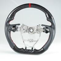 Forged Carbon Fiber Flat Bottom Steering Wheel Suede For Subaru Levorg WRX STI
