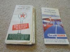 Vintage Two Texaco Gas and Oil California-Nevada with Arizona New Mex Road Maps