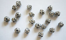 20 Metal Antique Silver Spacer Beads - 7mm