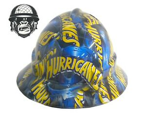 Custom Hydrographic Safety Hard Hat HURRICANES WIDE