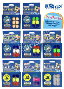 Ear Band-It Ear plugs Swimming Bathing PUTTY BUDDIES Floating Silicone 3 Pairs
