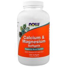 Now Foods, calcio y magnesio, 240 Cápsulas