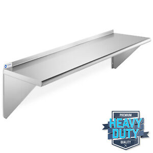 Stainless Steel Shelves Commercial Catering Kitchen Wall Shelf 100 x 30 x QR