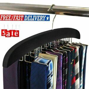 Multi-Function Tie Hanger Rack Organizer Belt Holder Necktie Storage Rack Black