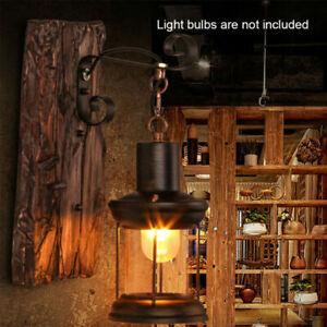 Vintage Rustic Wall Sconce Light Decor Retro Antique Outdoor Lantern Lamp UK