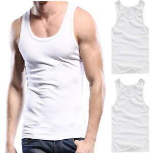 6-12 Pack Herren Unterhemd weiß 100% Baumwolle Tank-Top Unterhemden Set S-XXXL