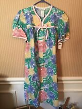 NWT Aria White/Pink/Purple /yellow Floral  Nightgown House Dress Robe Small