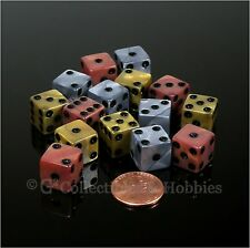 NEW 15 Olympic Gold Bronze Silver 12mm 1/2 inch RPG D&D Game Dice Set Koplow
