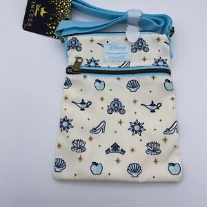 Loungefly Disney Crossbody Bag Princess Icons Passport Purse - Cinderella, Ariel