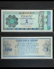 Burma Myanmar 1993 , 1 Dollar GEM UNC PFX1 , Foreign Exchange Certificate