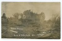 RPPC Tornado Cyclone Ruins MILLERSBURG IL Mercer County Real Photo Postcard