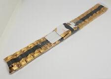 Invicta Reserve Bolt Steel Two Tone Black Rose Gold Band Strap Bracelet