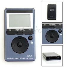 Portable AM/FM 2 Band Digital Tuning FM Radio Stereo Receiver + 5V Earphone DC