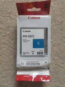 Genuine Canon PFI-107C Cyan, blue, Ink, New, Sealed