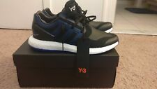 Y-3 Pureboost Adidas Black/Blue Size 11 Deadstock Never Worn Perfect Condition