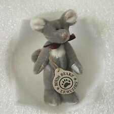 """Boyds Bears Wuzzies Mouse """"Tidbit F. Wuzzie"""" 3 Inches Original Paper Hangtag"""