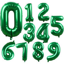"""32"""" Green Number Foil Balloon Holiday Wedding Celebration Birthday Party Decor"""
