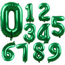 """32"""" Green Number Foil Balloon Holiday Wedding Celebration Birthday Party Decor z"""