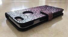 Faded Purple Made with Swarovski Crystal Bling Card Wallet Shiny Case iPhone X