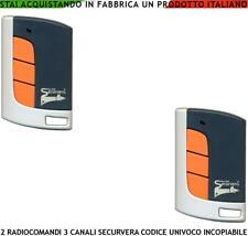 RADIOCOMANDO 2 PEZZI TELECOMANDO FREQ 433,92 MHz CODICE R. C. 3 CANALI SECURVERA