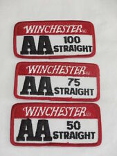 Winchester AA 50 75 100 Straight Trap Skeet Shooting patches Shotgun Vintage