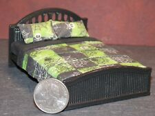 Dollhouse Miniature Halloween Spider Bed 1:24 Half scale 1/2  K23 Dollys Gallery