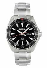Seiko SNE393P1 Solar Steel Stainless Man's Watch - Silver