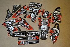 N STYLE SIKSPAK TEAM GRAPHICS SUZUKI RMZ250 2007 2008 2009