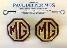 MG TF Badge, Front Bumper & Rear Boot Badge Set (DAB000160 x 2) (70mm)