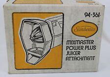 Sunbeam Mix-master Power Plus Mixer Juicer Attachment 94-361 New in Box