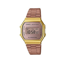 Casio Classic A168WECM-5DF Rose Gold Stainless Steel Digital Watch