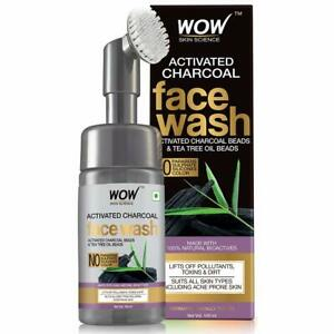 WOW 100ml Skin Science Charcoal Foaming Face Wash with Built-In Face Brush