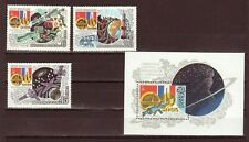 Russia Space 1982 Intercosmos USSR - France Scott 5059-5062 MNH